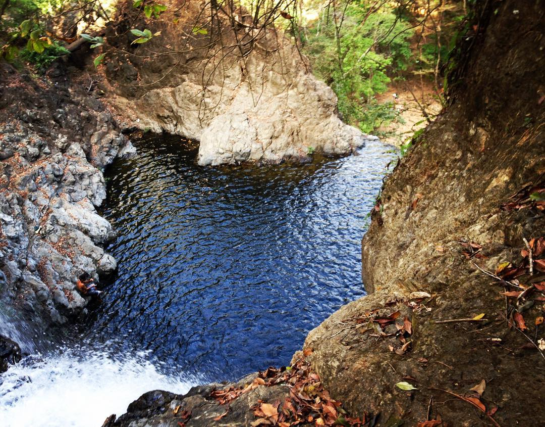 One of the upper pools at Montezuma waterfall