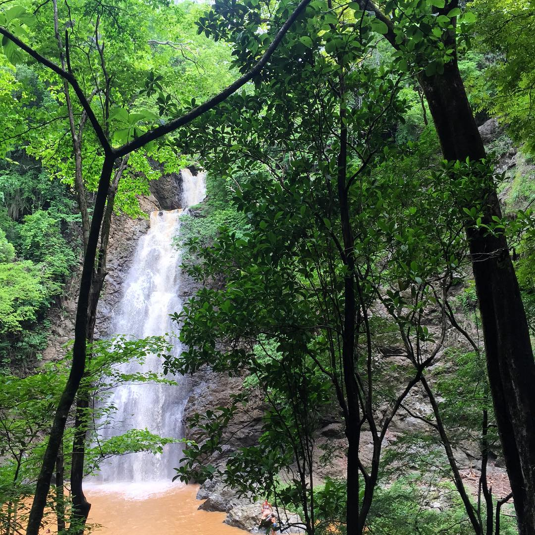 Montezuma waterfall view from forest