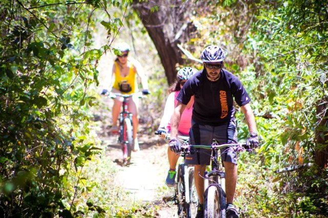 Mountain biking tours at Hacienda Guachipelin in Costa Rica