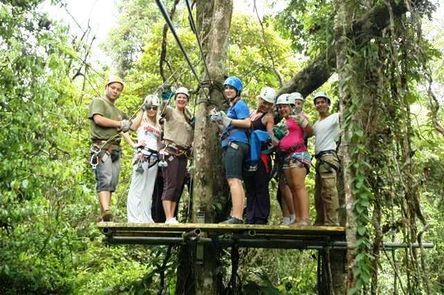 Canopy tour in Costa Rica at Veragua Rainforest