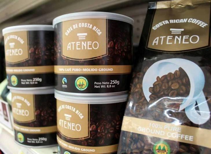 CoopeAtenas coffee in Atenas Costa Rica
