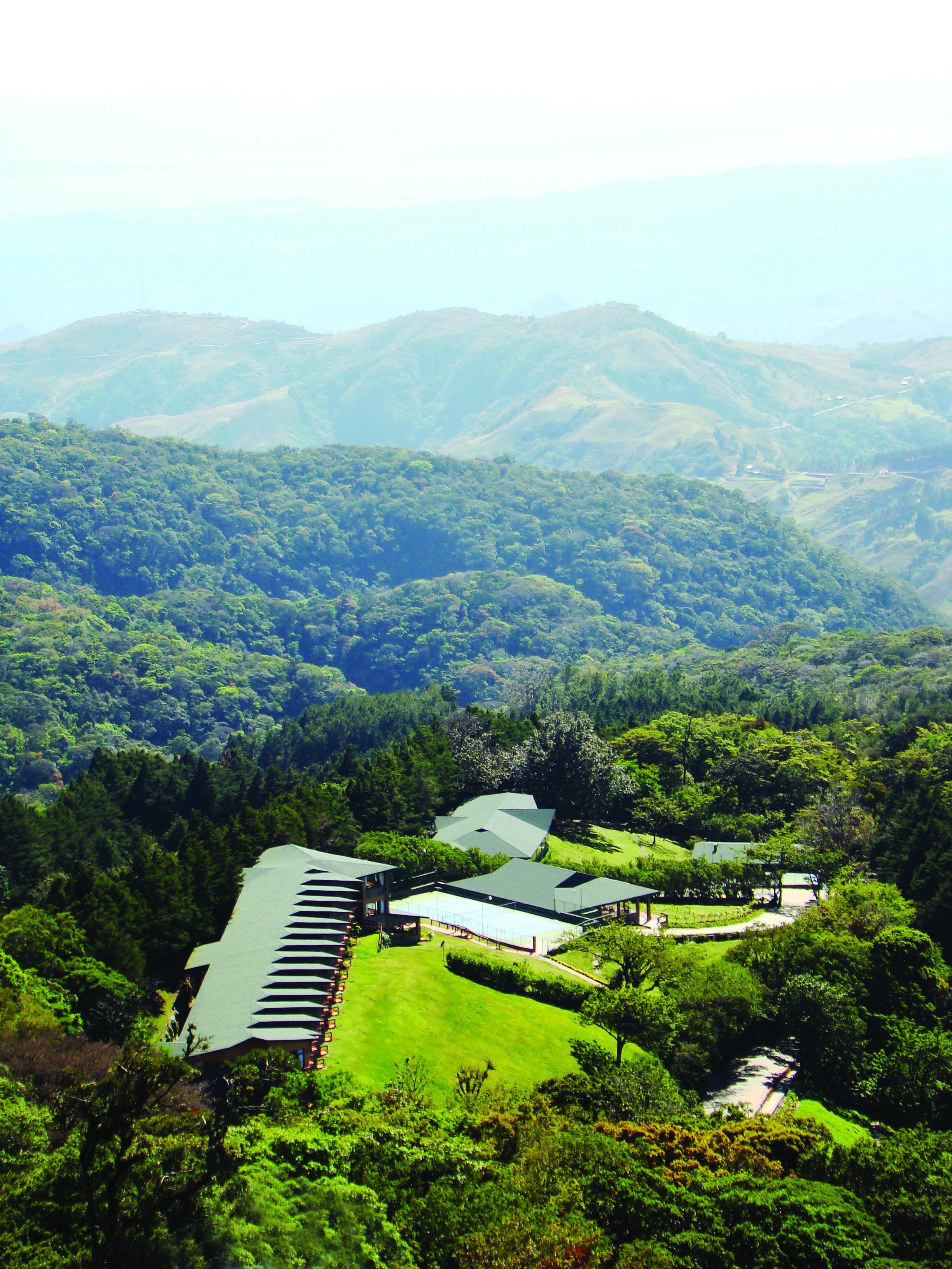 El Establo Mountain Hotel aerial view. Monteverde, Costa Rica.