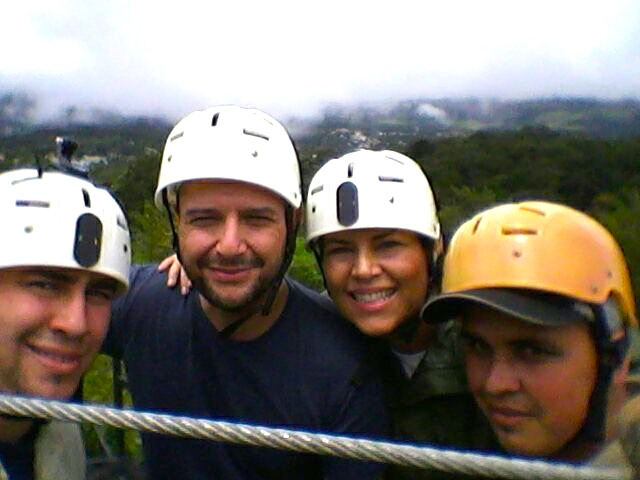Our guides during the adventure filled Tree Top Canopy at El Establo Mountain Hotel