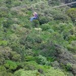 One of the lines through the cloud forest at Tree Top Canopy at El Establo Mountain Hotel