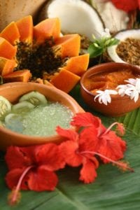Natural products at Yoga & Spa Natural at Hotel Tropico Latino.