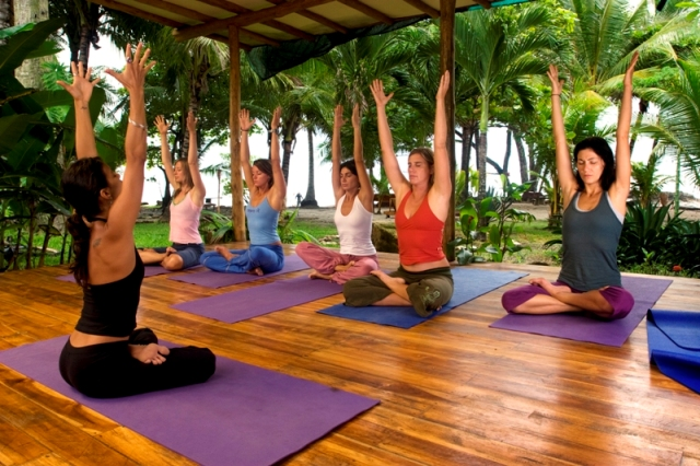 Yoga at Hotel Tropico Latino in Santa Teresa, Costa Rica.
