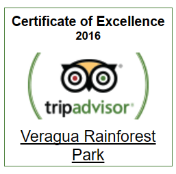 TripAdvisor Certificate of Excellence for Veragua Rainforest
