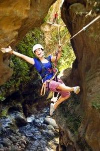 Canopy zip line tour at Hacienda Guachipelin in Costa Rica