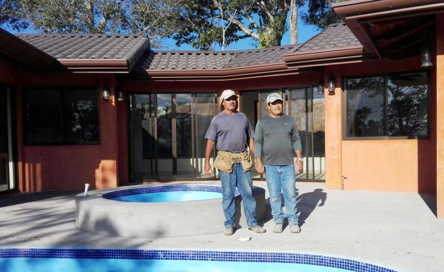 Ovido and Rolando Perez Gonzalez, master builders in Atenas Costa Rica