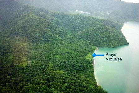 Playa Nicuesa by the Osa Peninsula in Costa Rica