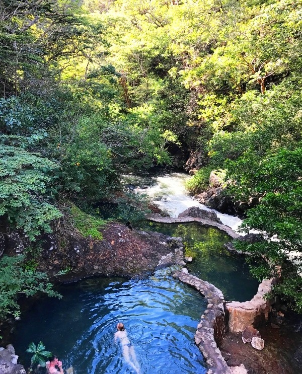 Hot springs at Hotel Hacienda Guachipelin in Costa Rica