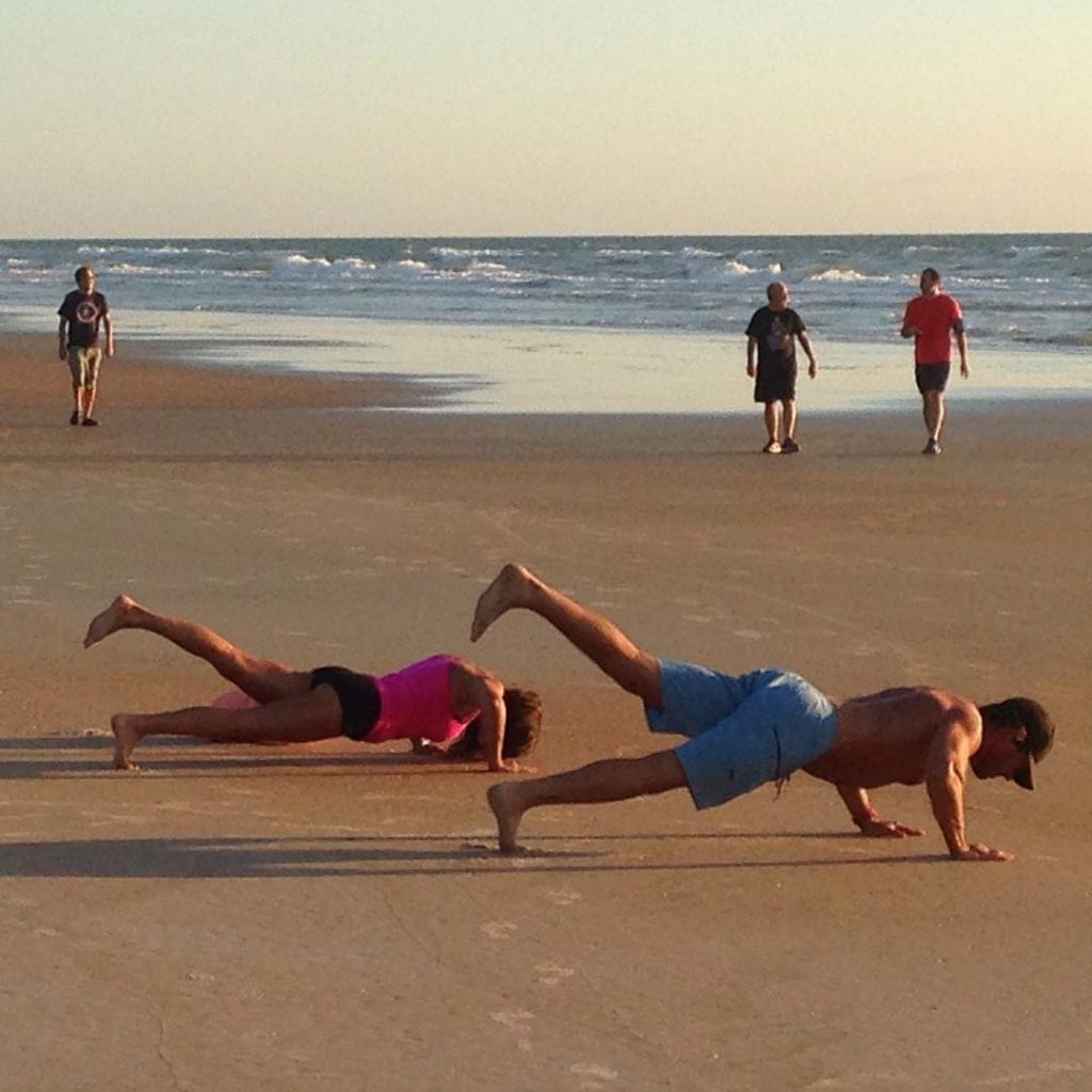 Pushups on the beach, photo credit bobtimr.