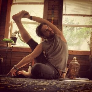 Home yoga practice, photo credit athensm3yoga.