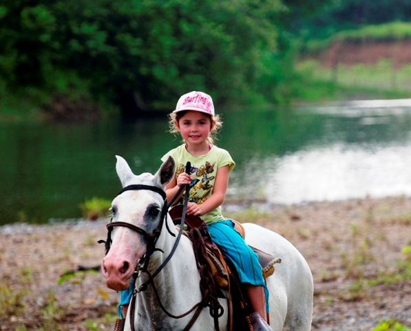 Horseback riding on Santa Teresa Beach Costa Rica