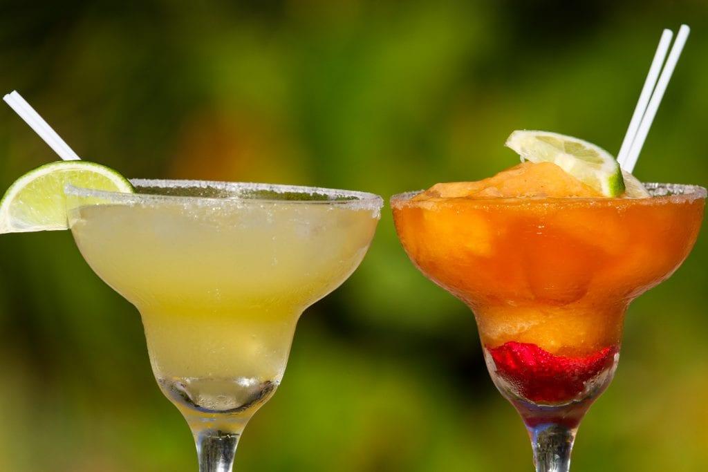 Tropical cocktails right on the beach at the Tiki Bar in Santa Teresa. Pranamar Oceanfront Villas and Yoga Retreat.