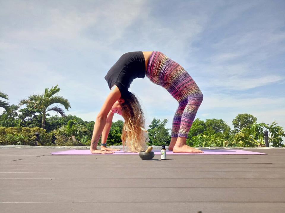 Valeria Giacomelli, one of the yoga instructors at El Establo Mountain Hotel.