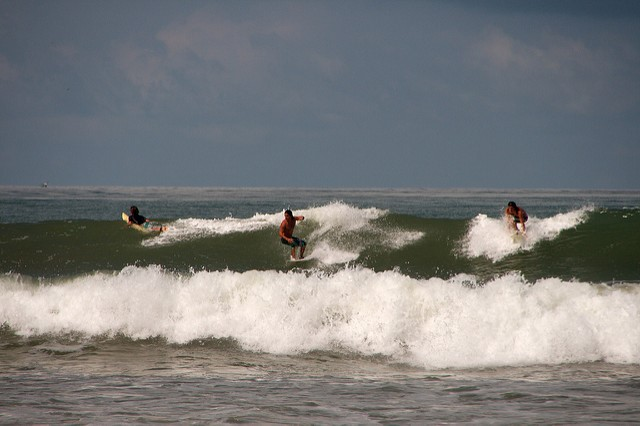 Surfing Playa Dominical - Photo by Christian Haugen