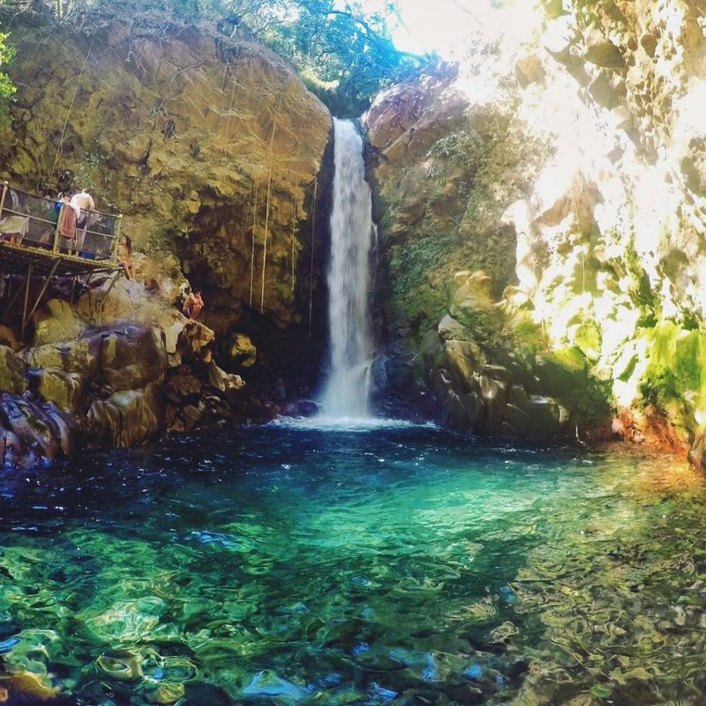 Waterfall at Rincon de la Vieja National Park, photo credit afortuna2cr.