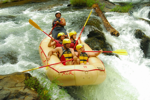 White water rafting Tenorio River in Guanacaste