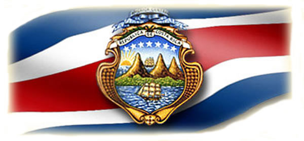 Costa Rica flag and seal