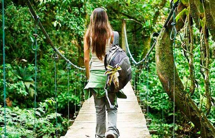 iconic places in costa rica Heliconias hanging bridges