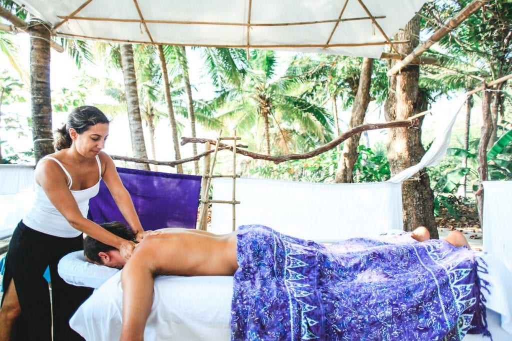 Relaxing massage at Gaia Bodyworks, Spa at Pranamar Villas. Photo credit Jennifer Harter.