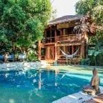 Calming pool surrounded by Villas at Pranamar in Santa Teresa. Photo credit Jennifer Harter.