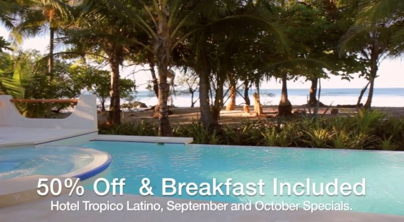 Special promotion Hotel Tropico Latino Oct 2017