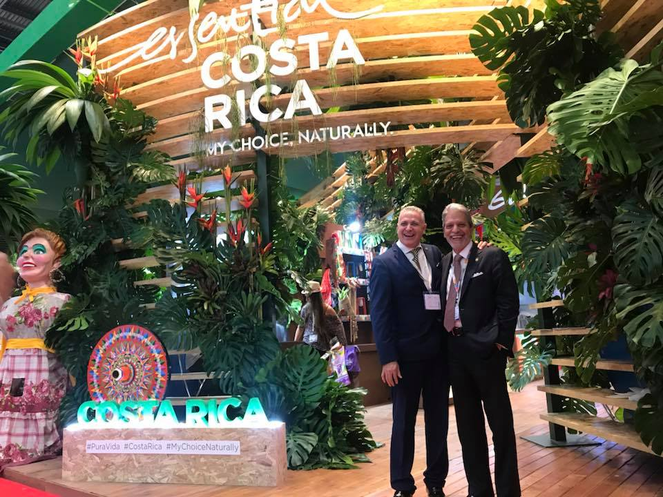 Daniel Chavarria and Mauricio Ventura at Costa Rica's stand at World Travel Market