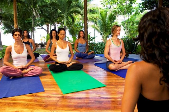 Yoga at Hotel Tropico Latino in Santa Teresa Cosa Rica