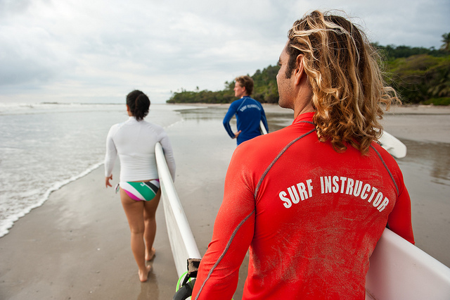Surf classes at Pranamar Villas