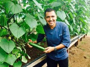 Chef Randy Siles at Hotel Tropico Latino in Costa Rica