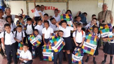 Costa Rican kids get needed school supplies from Veragua Rainforest