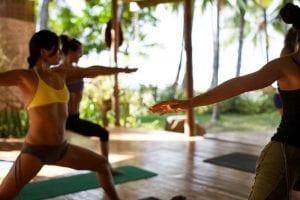 beachfront Yoga in Santa Teresa Cosa Rica