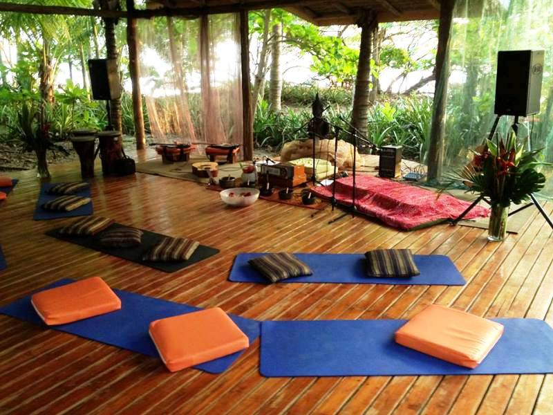 beachfront Yoga at Hotel Tropico Latino