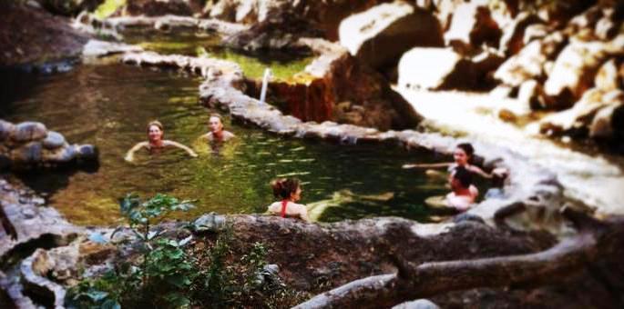 Hot springs at Hotel Hacienda Guachipelin in Costa Rica