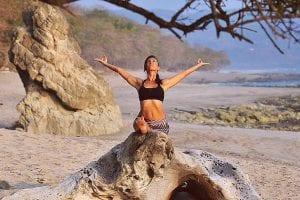 Yoga instructor Nancy Goodfellow at Pranamar Villas in Costa Rica