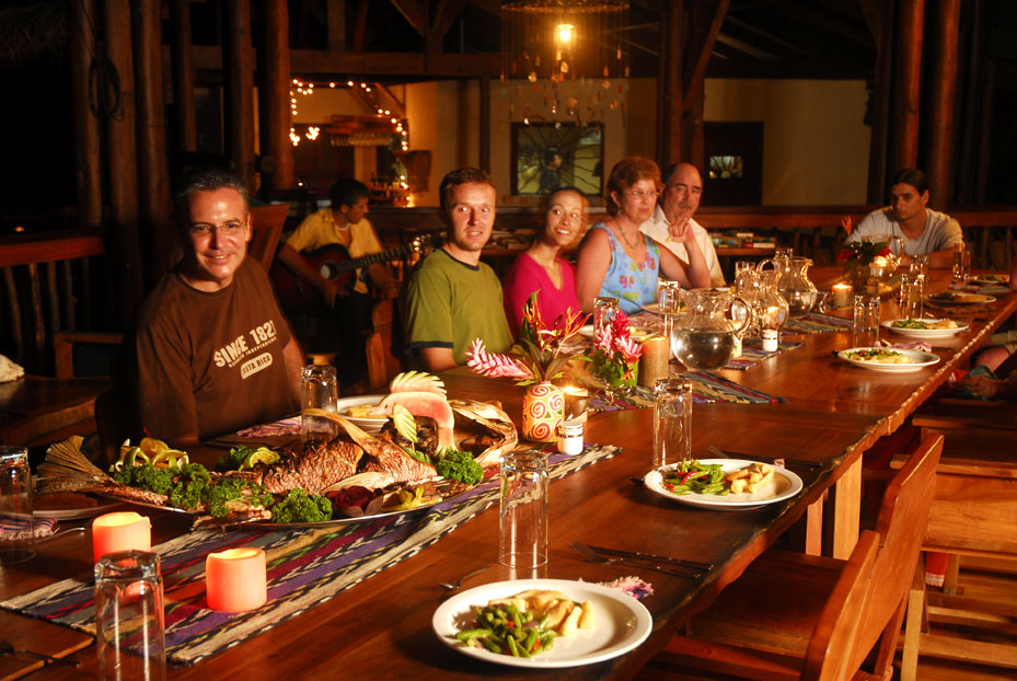 Dining at Nicuesa Lodge