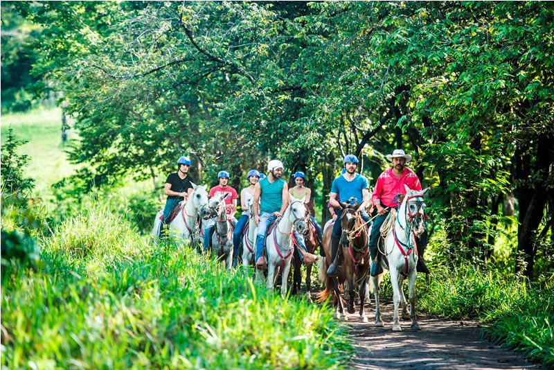 Horseback riding in Guanacaste, Costa Rica at Hacienda Guachipelin.