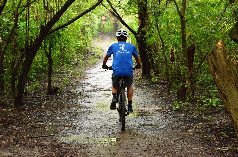 mountain biking at Hacienda Guachipelin
