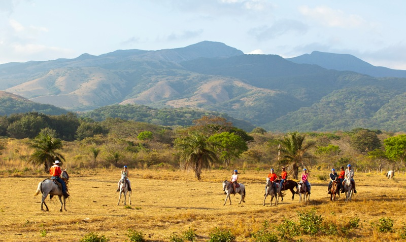 Horseback riding in Guanacaste Costa Rica at Hacienda Guachipelin