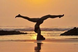 Yoga on the beach in Costa Rica t Pranamar Villas