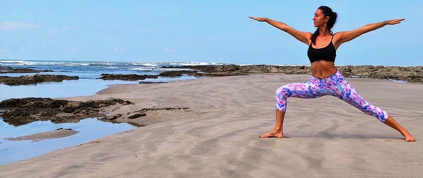 yoga on the beach in costa rica