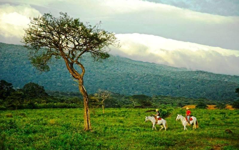 Horseback riding in Guanacaste Costa Rica at Hacienda Guachipelin
